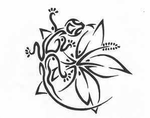 Fleurs tahiti dessin - Fleurs a dessiner modele ...
