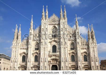 famous cathedrals | Milan, Italy. Famous landmark - the cathedral ...