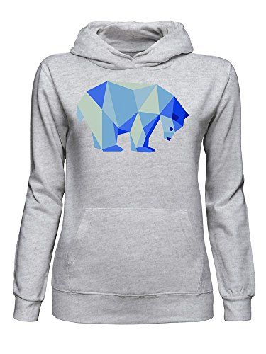 c1ded0c8 graphke Geometric Polar Bear Blue Triangle Original Art Women's ...