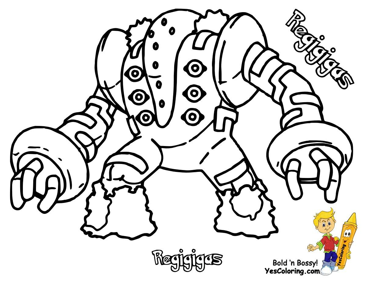 Pokemon Coloring Pages Regigigas From The Thousand Images On The