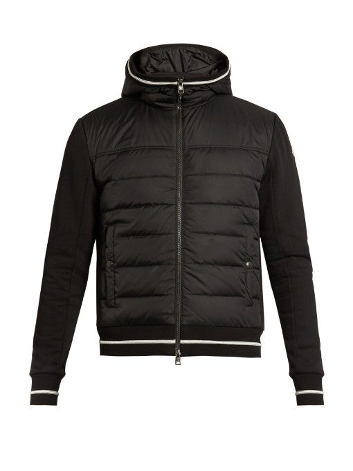 MONCLER Quilted-Down Panel Hooded Jacket.  moncler  cloth  jacket ... a5210904a
