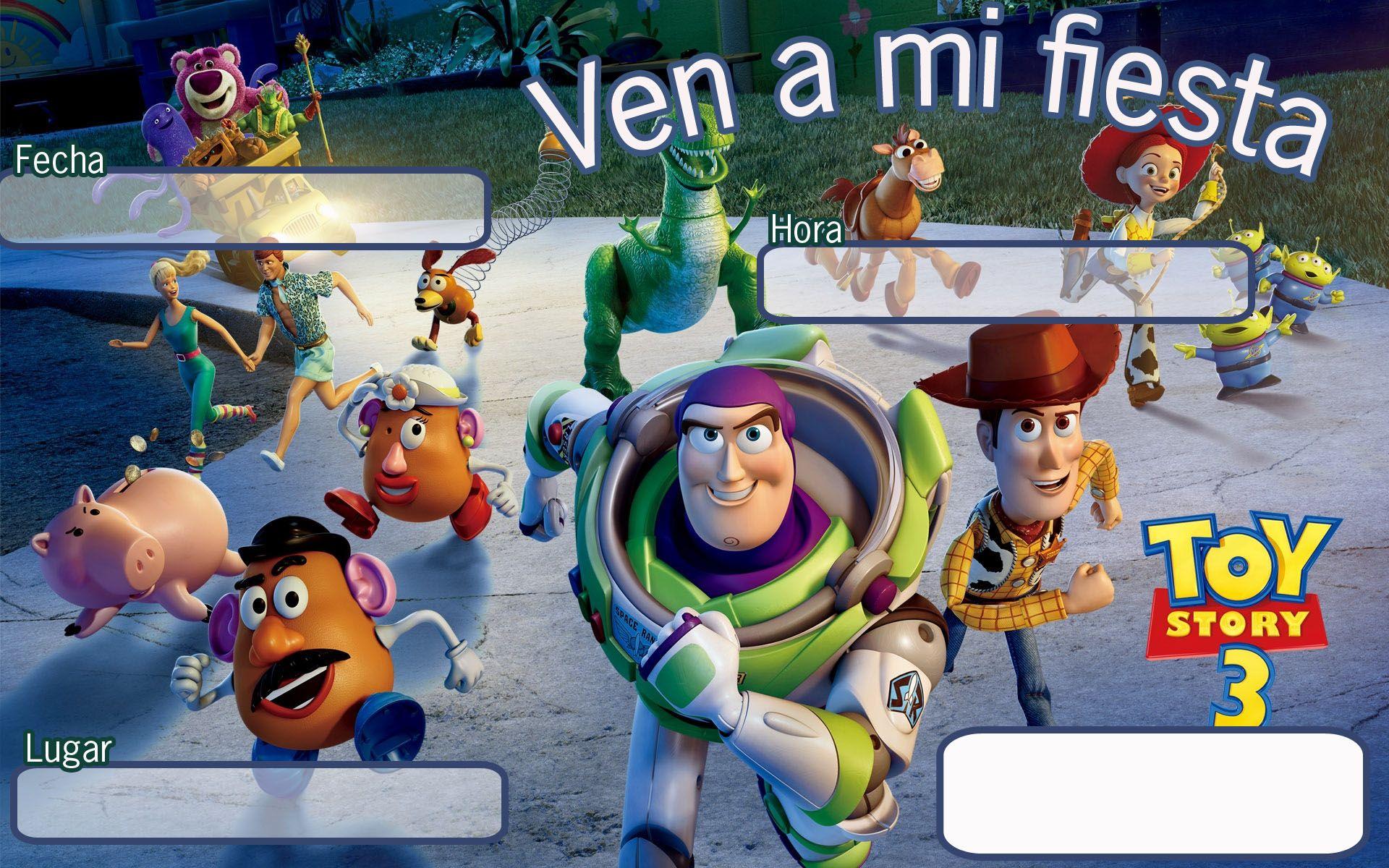 Tarjetas De Invitacion A Cumpleaños Toy Story Para Mandar