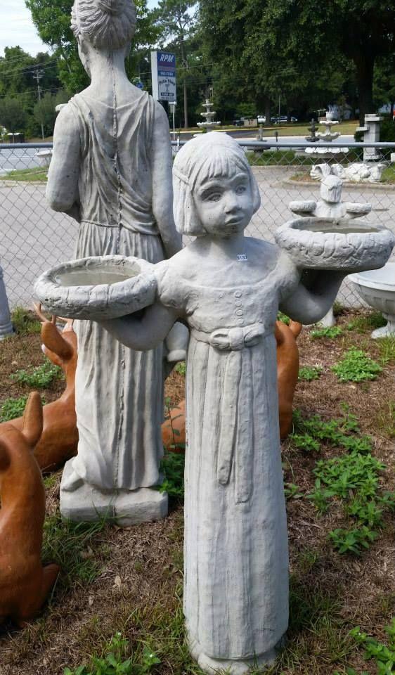 130 xl savannah bird girl the fortune tellers room pinterest garden garden accessories for Garden of good and evil statue