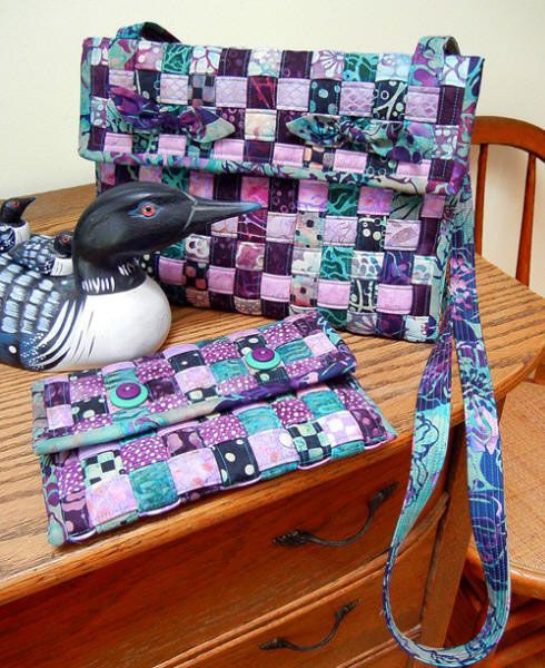 WOVEN CROSSBODY BAG /& WALLET SEWING PATTERN from Aunties Two Patterns