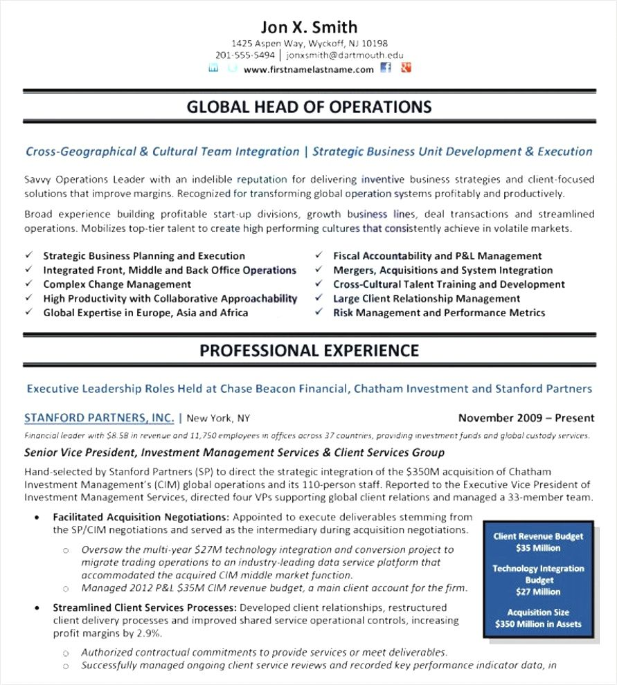 Free Resume Templates Executive Resume template free