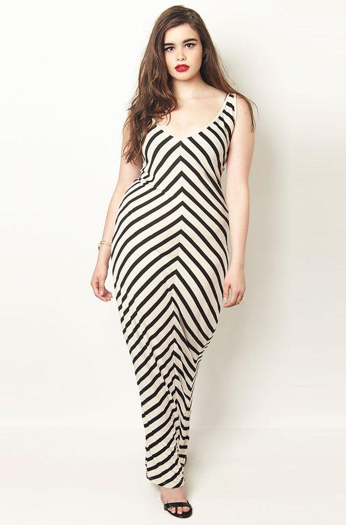 chevron-maxi-dress_1024x1024 | Plus Model - Barbie Ferreira ...