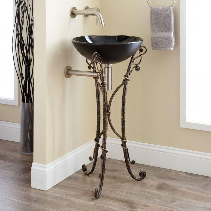 Home bathroom jacques wrought iron sink stand bathrooms bathroom sink bathroom furniture for Wrought iron bathroom furniture