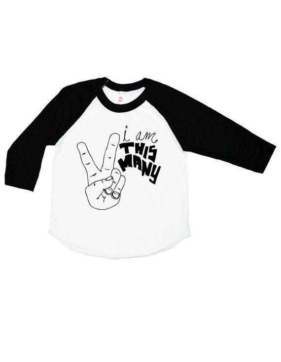 421081a2 I Am This Many three quarter Sleeve Raglan Kids Shirt - 1 2 3 4 - Boys  Birthday Shirt - Girls Funny Shirt - Baby & Toddler - I'm This Many