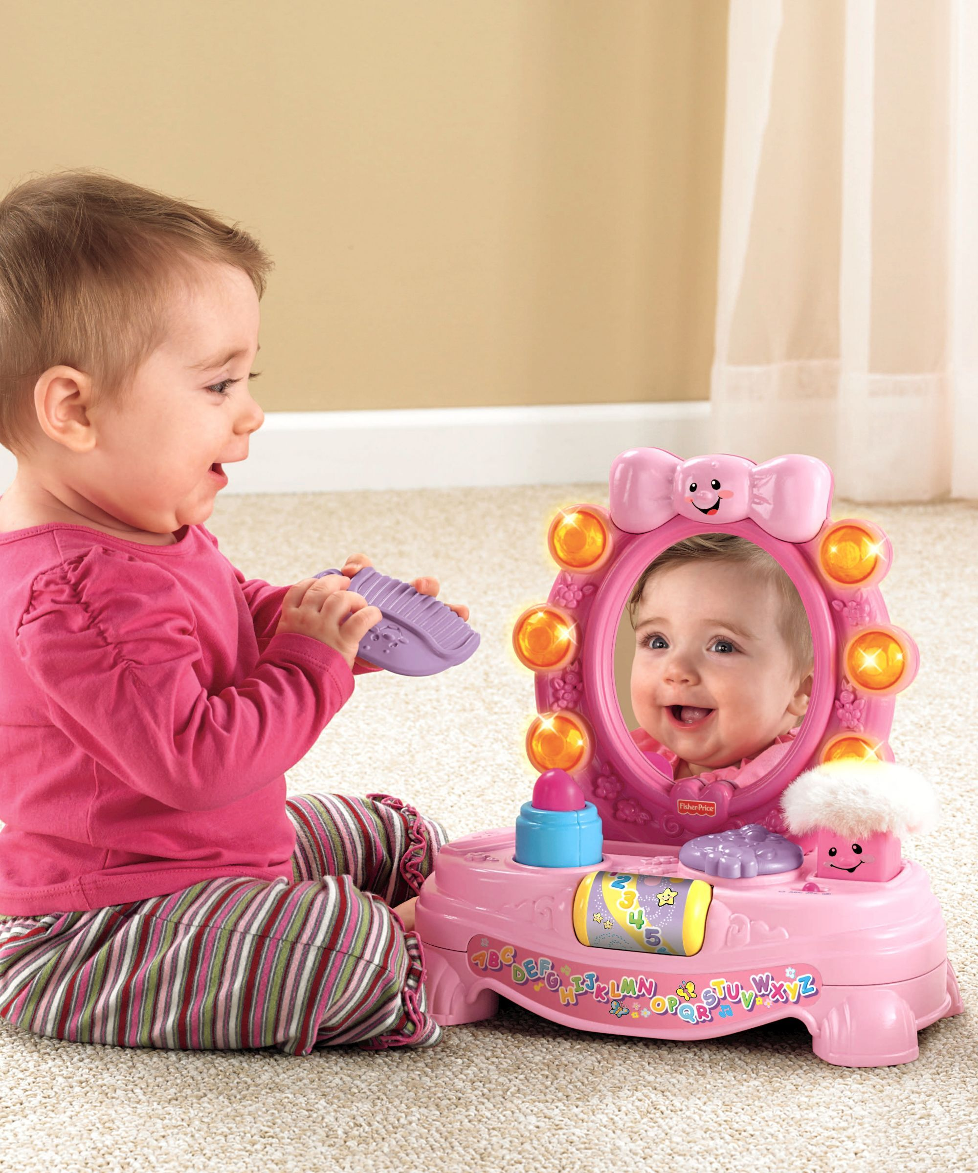 Baby girl car toys  Fisher Price Laugh and Learn Magical Musical Mirror  Christmas