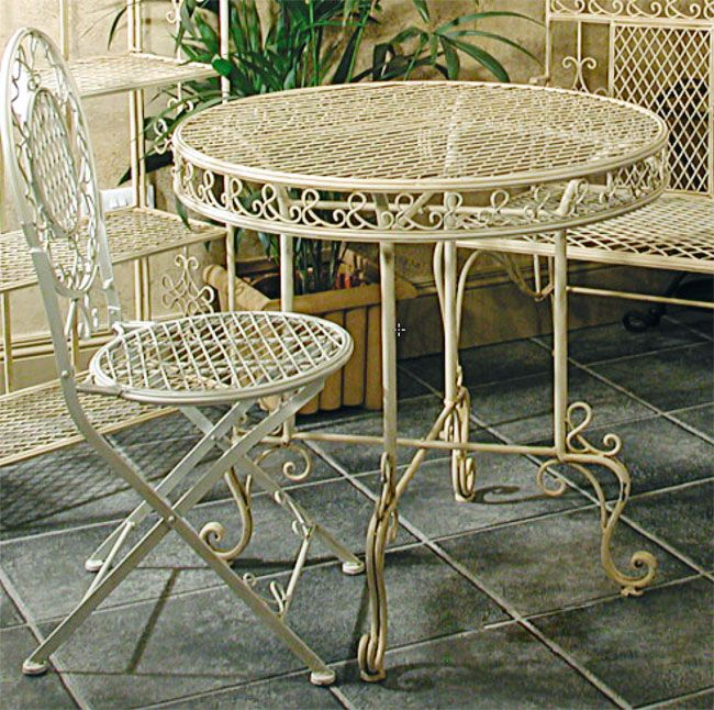 Chantilly Table and Four Chairs - This garden furniture set