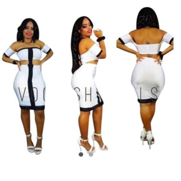 Black/White Large. New. Boutique Dresses