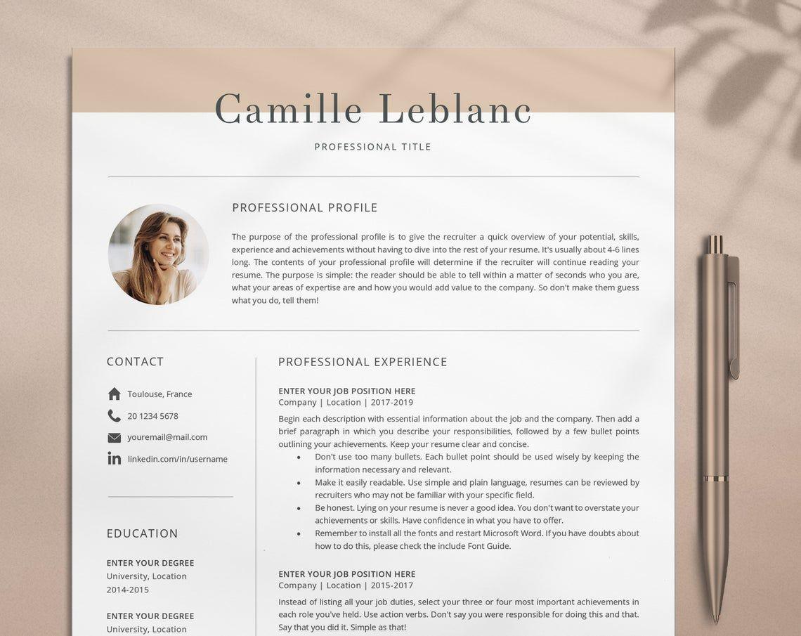 Creative Resume Template Cv Template Teacher Cv Template Etsy Resume Template Creative Resume Templates Modern Resume Template