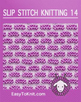 Slip-Stitch Knitting #slipstitch