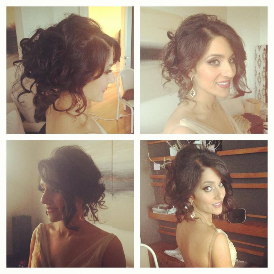 loving curly formal updo hairstyle
