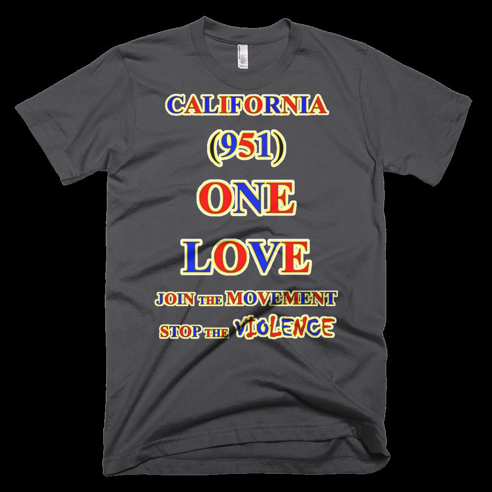 T CALIFORNIA Area Code ONE LOVE TSHIRT - Area code missouri