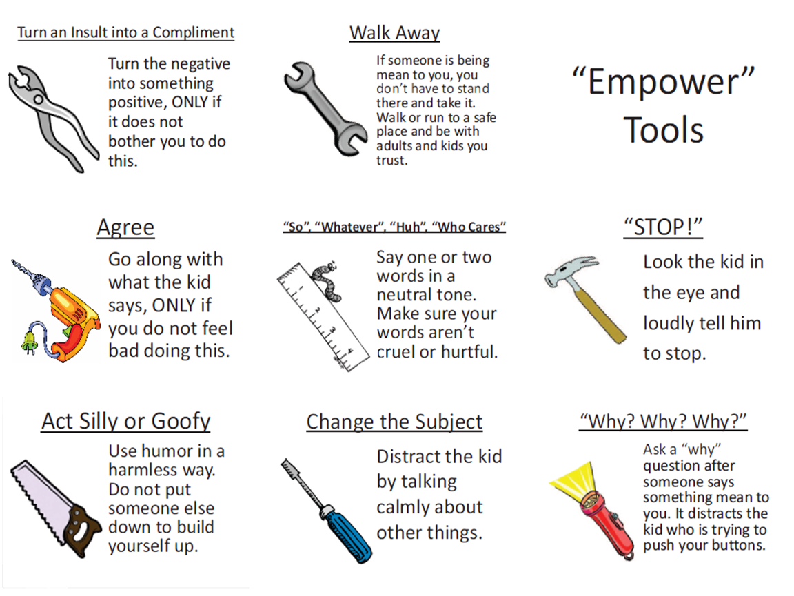Empower Tool Cards Against Bullying From The Book