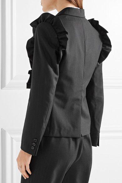 Comme Des Garçons Comme Des Garçons frill-trim blazer Cheap Purchase zd8YGIKC