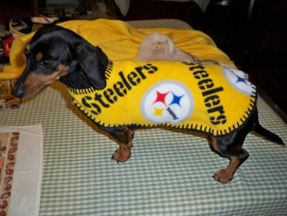 low priced 78c80 1c9e1 NFL PITTSBURGH STEELERS Dog Coat/ Sweater by magge03 on Etsy ...