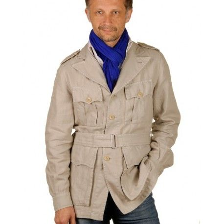 Veste saharienne en lin pour homme