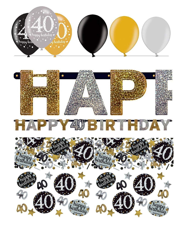 Der Spielzeugtester Hat Das Festefeiern Dekoration Girlande Zum 40 Geburtstag Geburtstags Deko 40 8 Geburtstag Clipart Geburtstag Deko Ideen Geburtstag