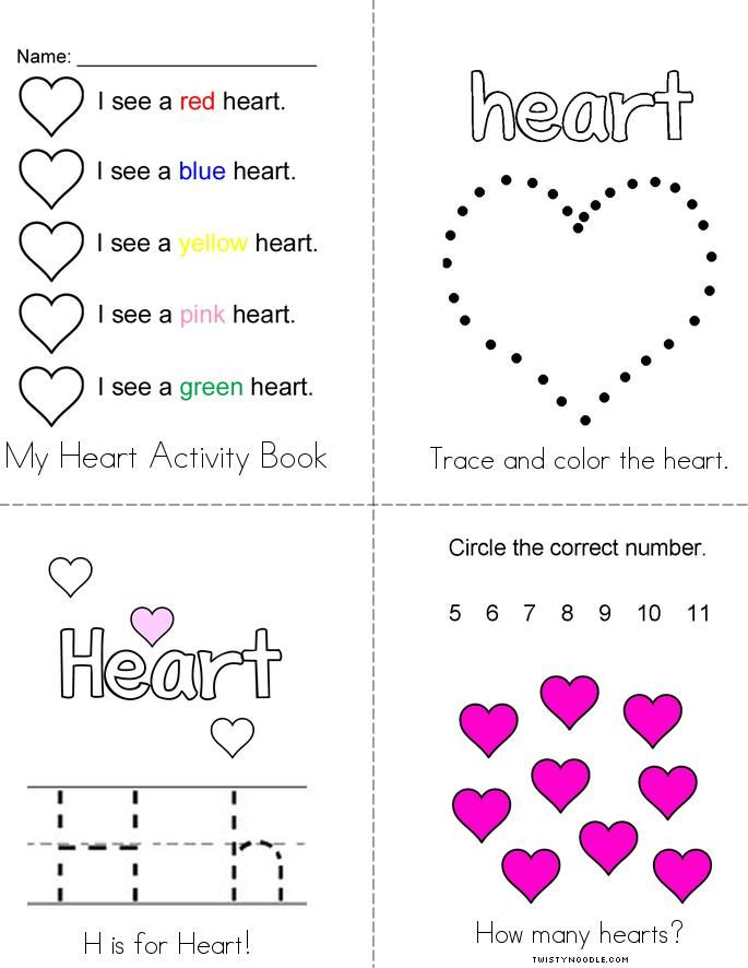 My Heart Activity Book - Twisty Noodle in 2020 (With ...