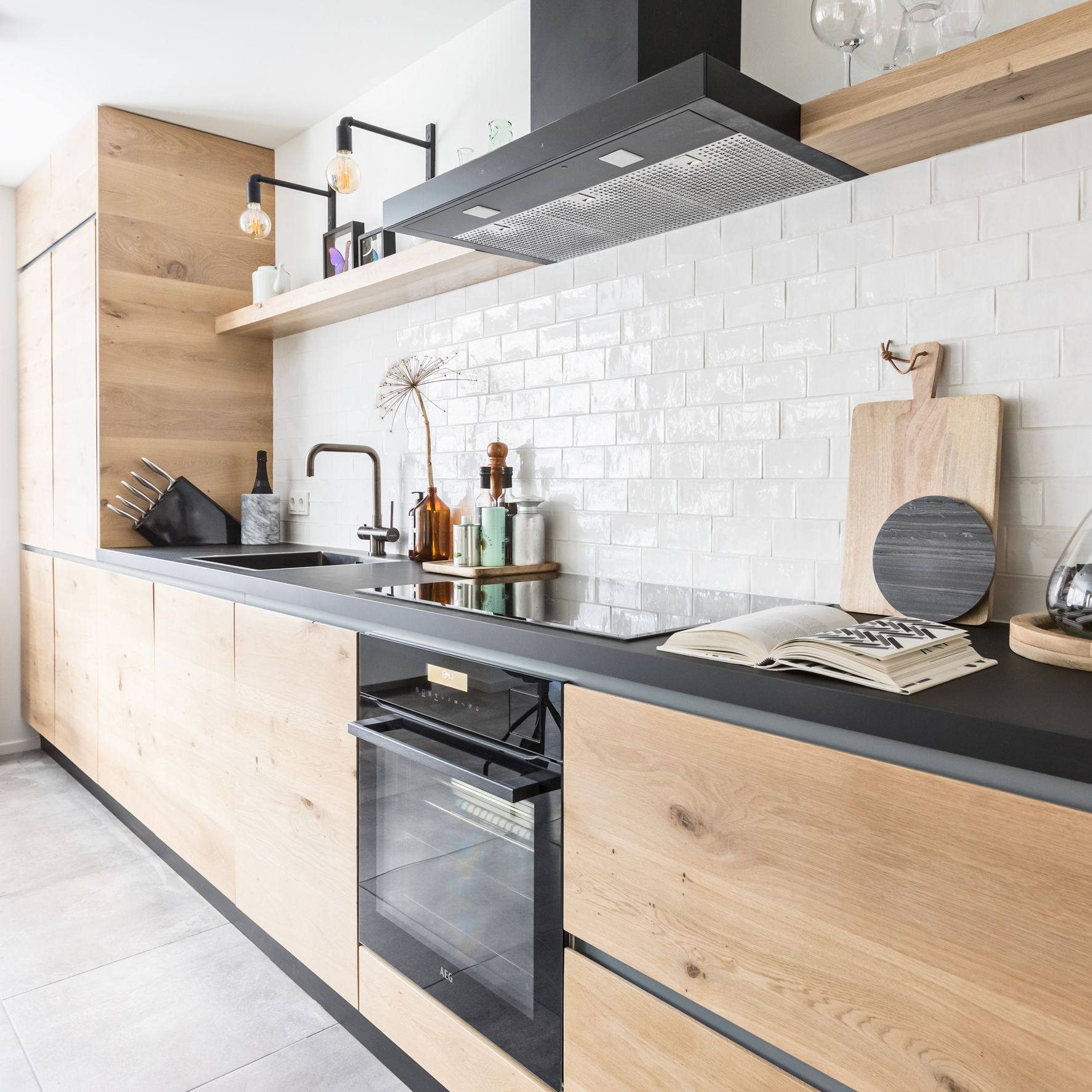De lampjes  Cuisine appartement, Cuisines maison, Cuisine moderne