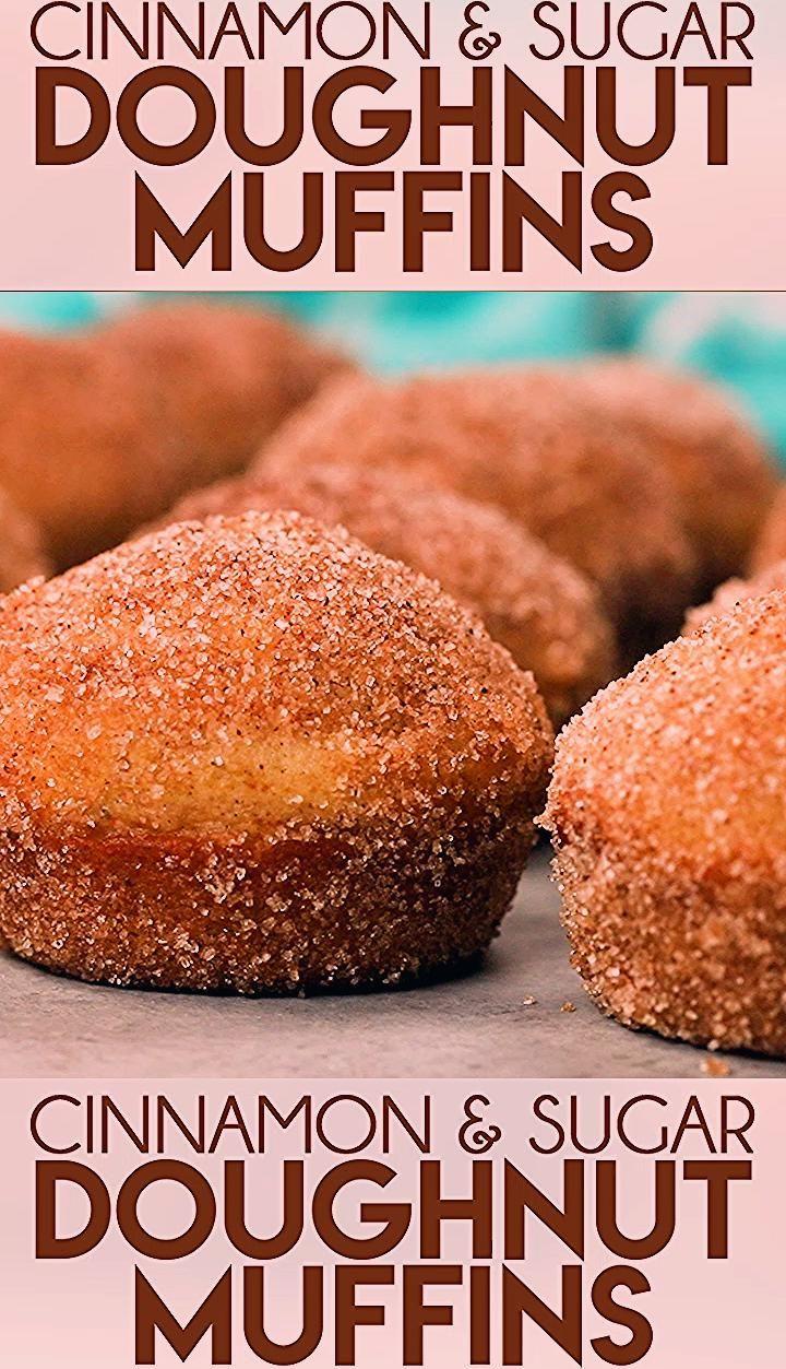 Photo of Cinnamon Sugar Donut Muffins
