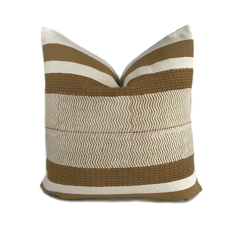 Vega Mustard Pillow Cover Mustard And Cream Designer Pillow