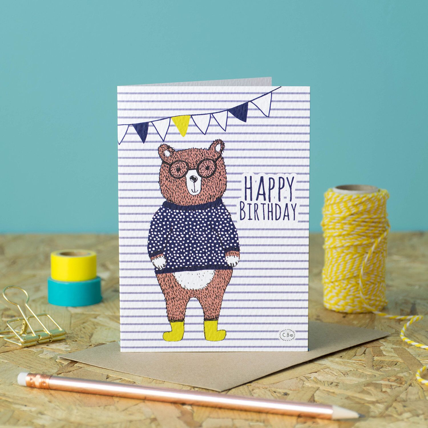 A personal favourite from my etsy shop httpsetsyuk happy birthday greetings card illustrated bear designed by corin beth designs kristyandbryce Image collections