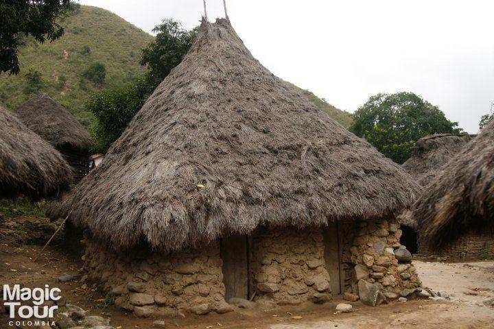Casa Kogui Pueblo indígena, Sierra nevada, Ciudad perdida