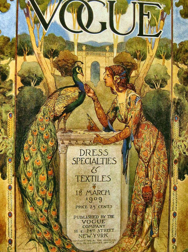 Vogue 18 March 1909 Arts And Crafts Movement Full Of Rich Colours And Organic Lines