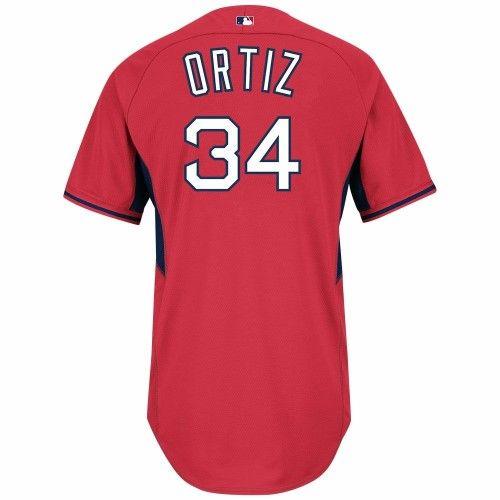 589f0c7b2e8 David Ortiz Boston Red Sox MLB Majestic Men s Red  34 Authentic On-field Cool  Base Batting Practice Jersey (44)