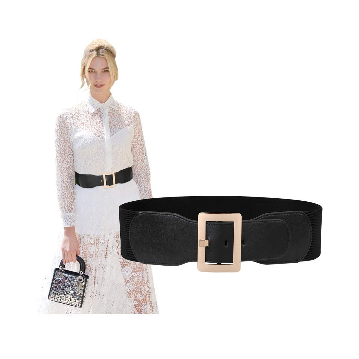 Women Wide Elastic Stretch Waist Belt Ladies Fashion Cinch
