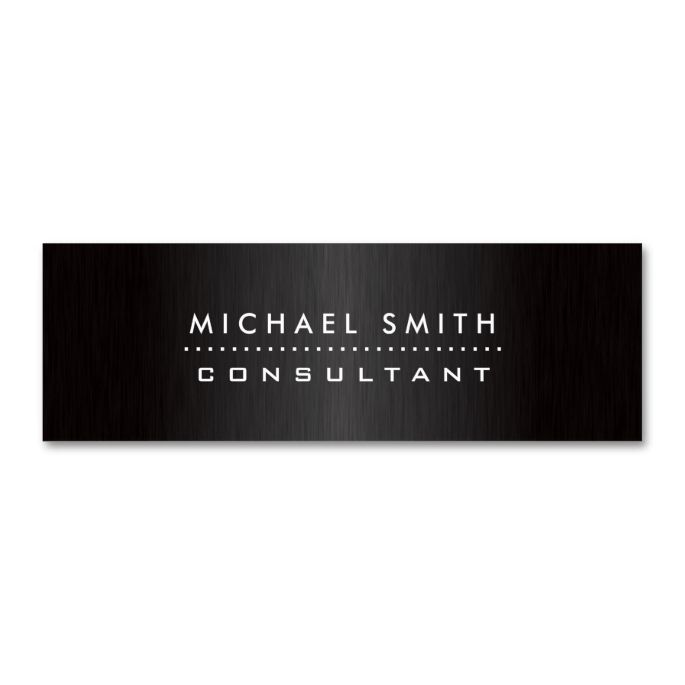 Elegant fashion designer professional modern black double sided mini professional elegant modern black brushed metal double sided mini business cards pack of this great business card design is available for customization colourmoves