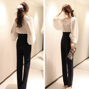 wide leg suit pants - Pi Pants