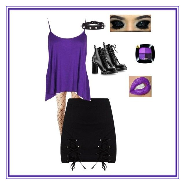 """""""💜☮️"""" by maylyris on Polyvore featuring Mode, HUE, Boohoo und L'Oréal Paris"""