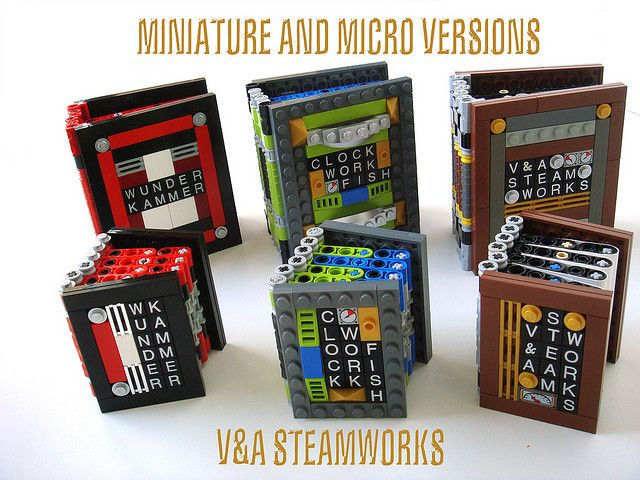 Miniature and Micro LEGO books by V Steamworks, via Flickr