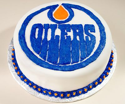 Edmonton Oilers themed cupcakes Themed cupcakes Cake land and Cake