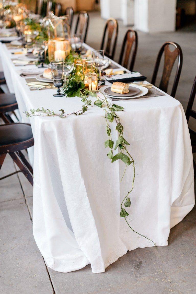 31 Fresh Flower Table Runners for Every Wedding Style   Table garland, Wedding  table, Table runners wedding