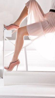 #Coral #Peeptoe #Leather #Heels <3 #Love