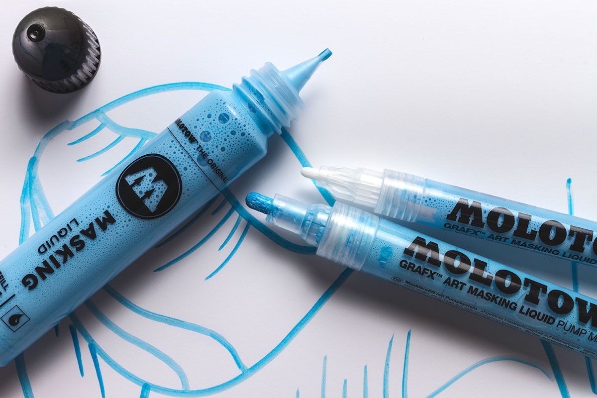 Molotow Masking Fluid Markers Easy To Apply And No Paper Tearing