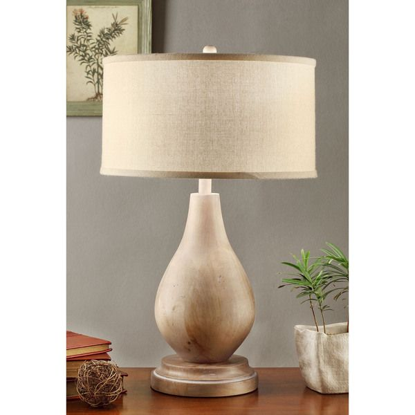 Good Latte Teardrop Table Lamp With Cream Shade   Overstock™ Shopping   Great  Deals On Table