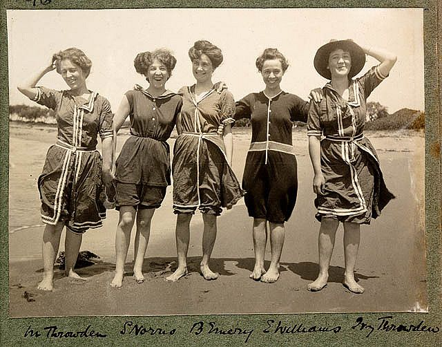 Vintage Bathing Suits | Bathing-Suit-Women-in-bathing-suits-on-Collaroy-Beach-1908 ...