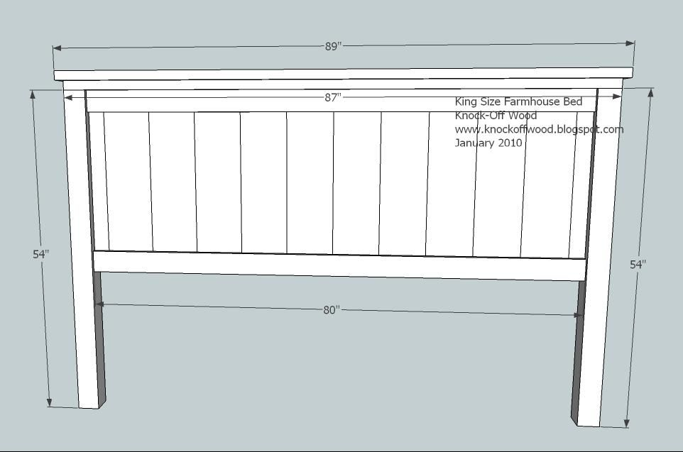 Farmhouse Bed Standard King Size Headboard Plan Diy King Headboard Diy Wood Headboard