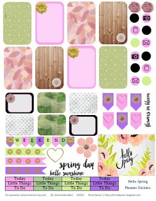 FREE Hello Spring Planner Stickers by Sabrina Davidson