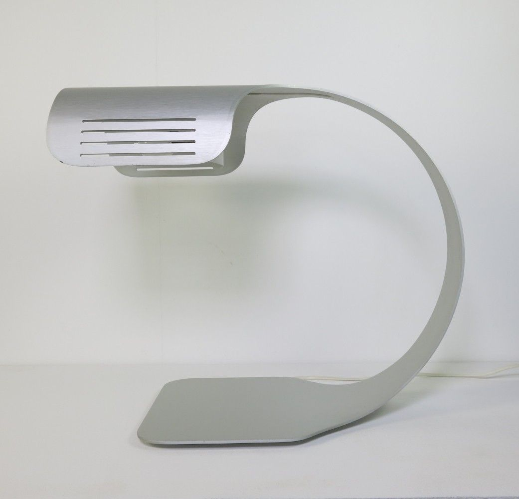 Brushed aluminum desk lamp by walter et moretti italy in