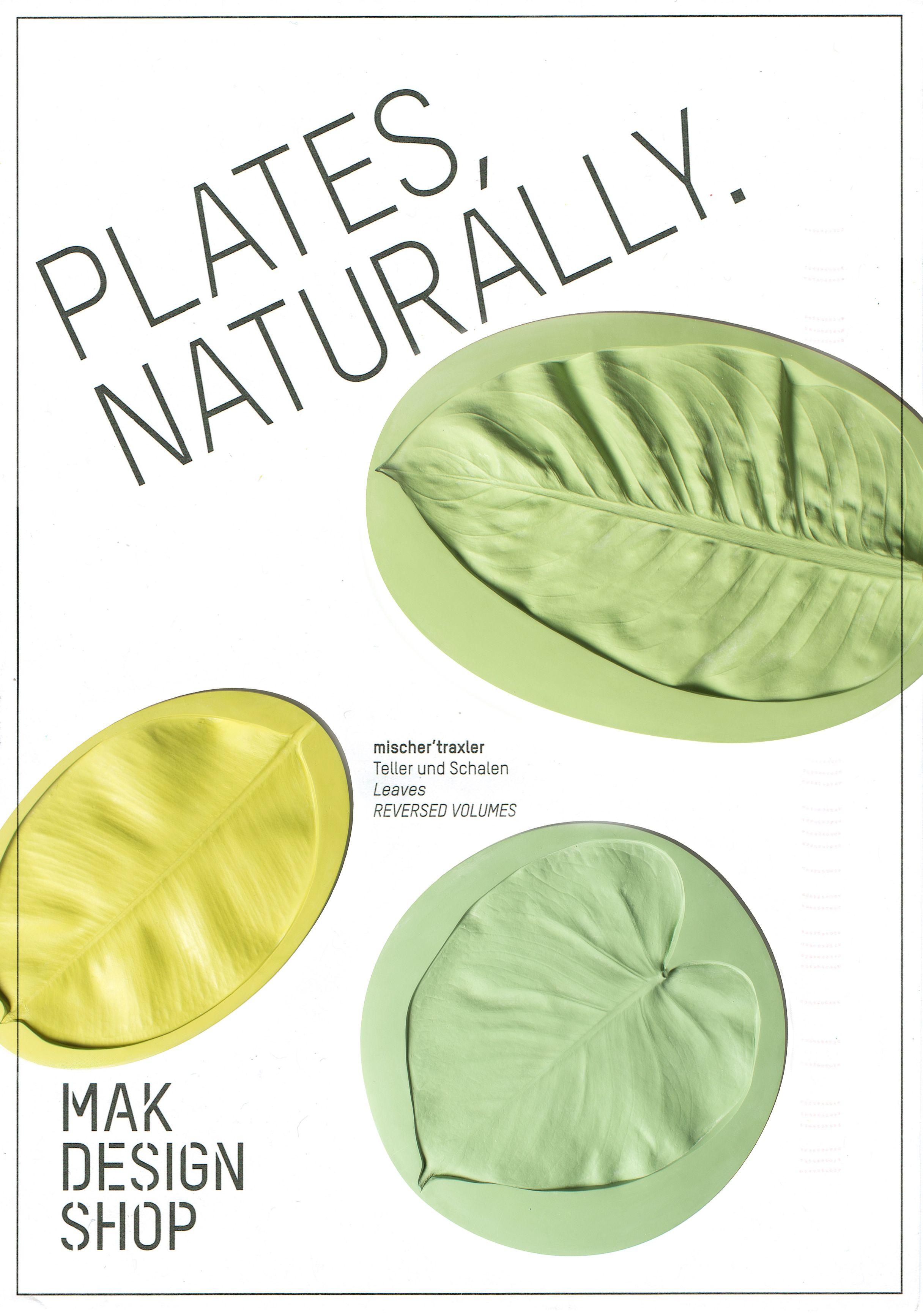 Postales de la tienda del museo MAK en Viena con las hojas de mischer´traxler.  -  Nice postcards from MAK Design Shop with mischer´traxler's reversed volumes leaves plates