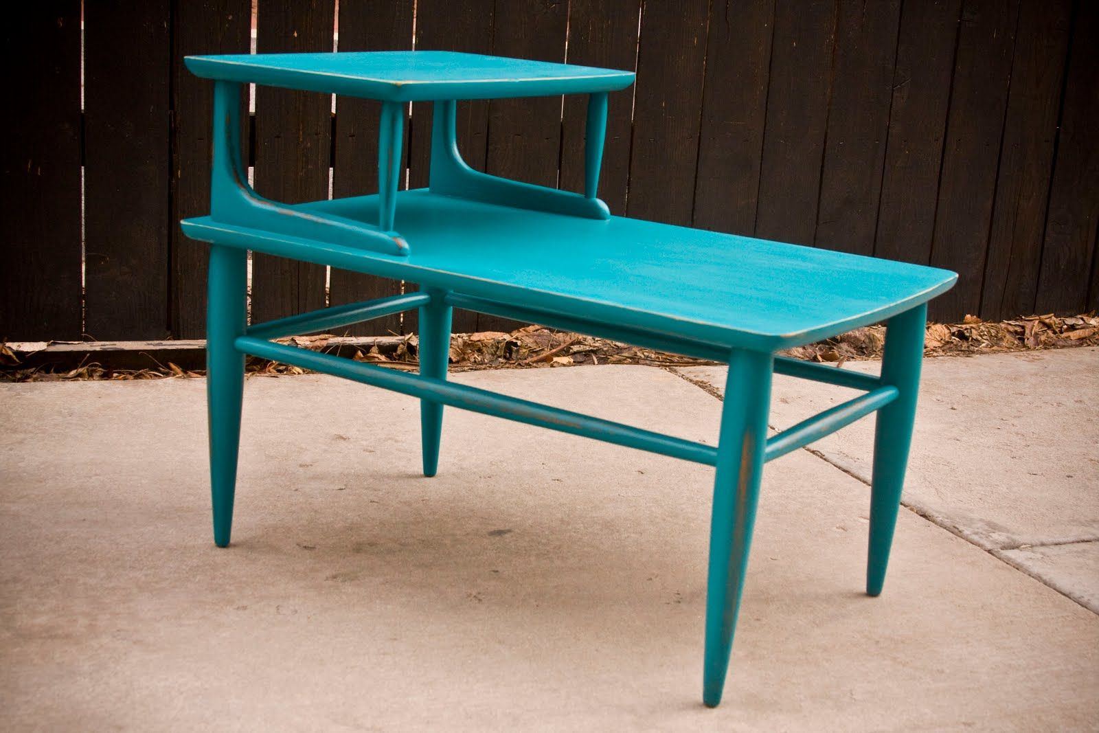 Best Retro Turquoise End Table Nightstand Blue Nightstands 640 x 480