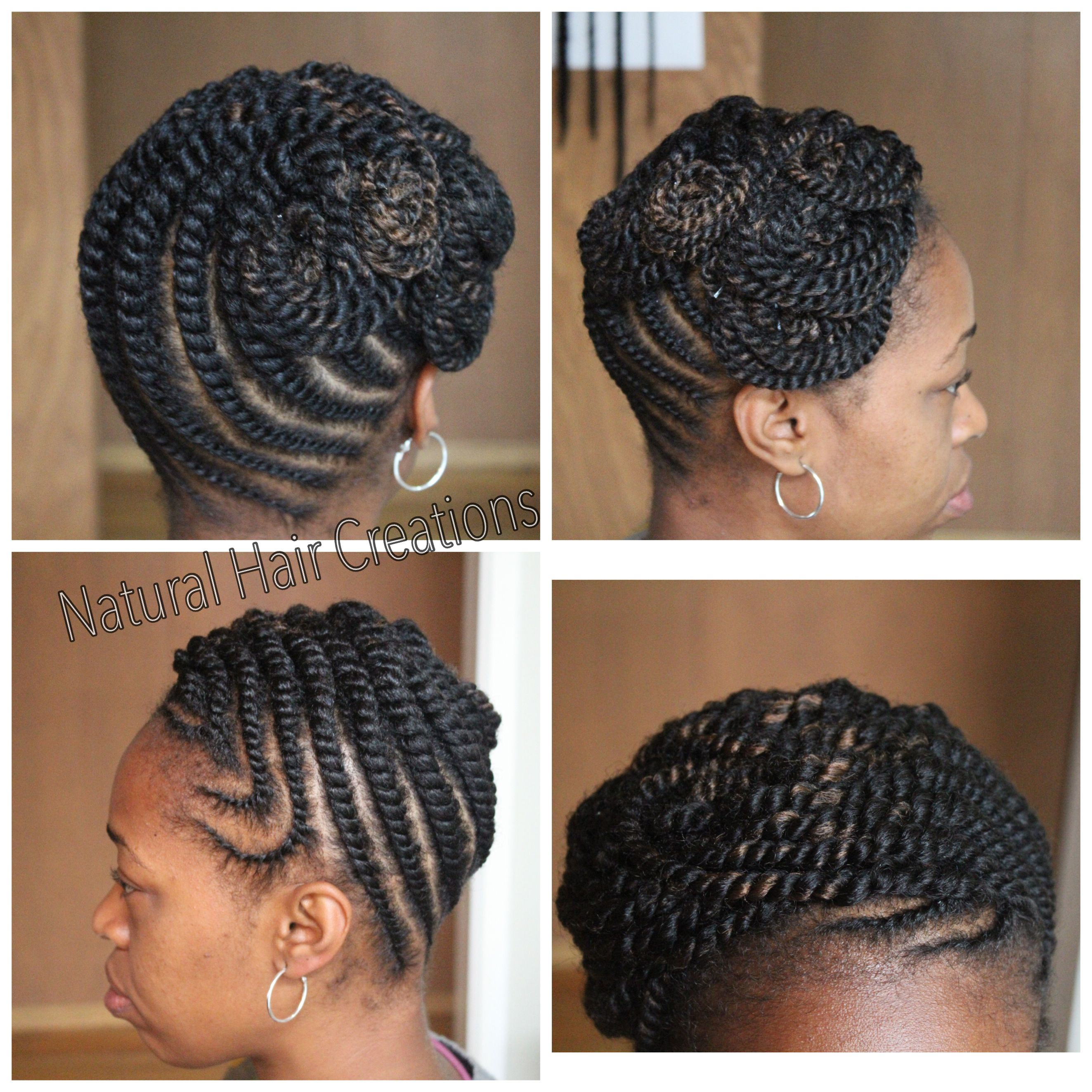 Flat Twist Updo Natural Hair Protective Styles Pinterest Flat