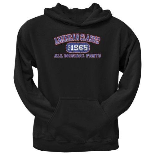 50ca61435dd5 Classic American 1965 Funny Black Adult Hoodie